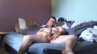 Solo jerk session with self facial