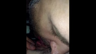 Petite freckled milf cums all over bf s tongue in an explosive orgasm