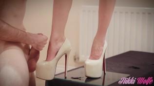 Fetish worship heels cum