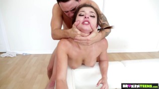 BrokenTeens - Gorgeous Leah Gotti Fucks as Hard as She Trains