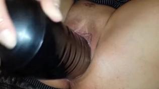 close up big toy fisting pussy masturbation