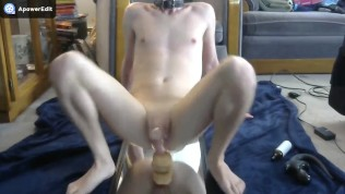 Anal orgasm while in chastity