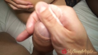 Schoolgirl roommate caught me masturbating and I fucked her