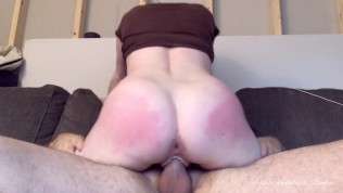 Bunny Rides My Cock Balls Deep And Earns A Throbbing Creampie In Her Pussy