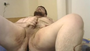 Fan Play with fat chub camboy hairy bear KingMarti's Butt plug chubby ass