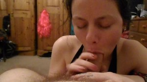 Sexy Amateur Blowjob and Facial by Hot Young Brunette in HD