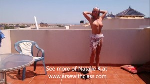 Removing my bikini in a photo shoot outdoor in the sun, I'm NatalieK