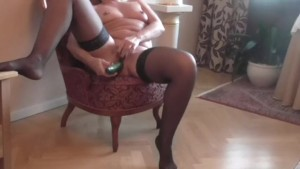 HIDDEN CAM COUGHT WIFE USE cucumber