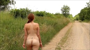 Me walking naked down the road- andrea sky
