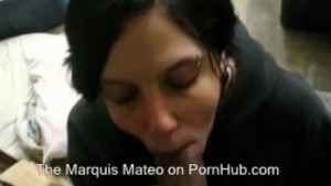 Maggie sucking and shallowing the cum out of my cock