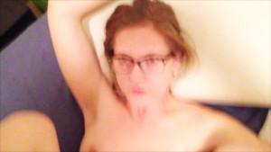 playful couple has drunk sex