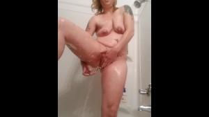 Solo Dildo Shower Show