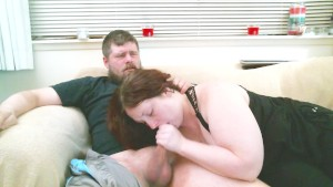 cute redhead sucks a cock dry and shows off her mouthfull of cum