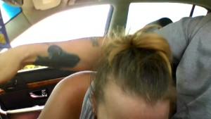 Girlfriend gives blowjob while im driving.