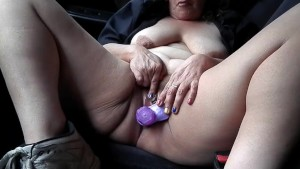 In My Truck With My New Purple Toy