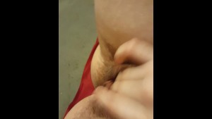 Playing with my pussy and getting a cumshot