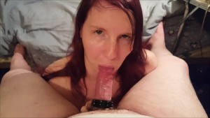 Cum Craving Redhead Ginger Girl, Lady Adorn get a tasty mouthful POV !!!