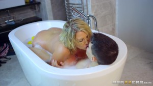 Bathing Your Friends Dirty Mama: British Milf Leigh Darby