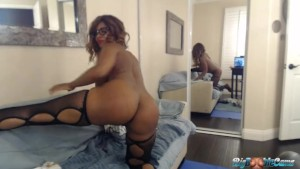 Busty Booty Nyla Storm Bounces Her Big Butt & 34 G's For Her Webcam Lovers