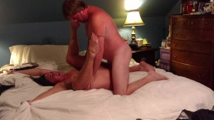Amateur Becky Tailor rides hard for early Birthday creampie surprise!