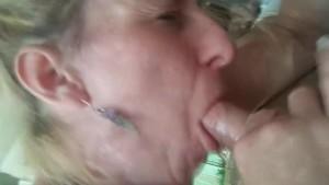 Amy milks a big cock