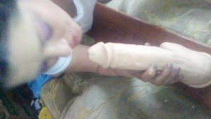 Cumming on my hotties dildo so she can lick it off!