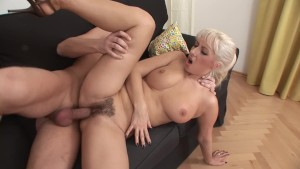 Hairy pussy blonde MILF needs a good fucking