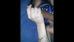 White girl sucking big black dick and balls