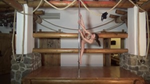 Ira Verber pole dances and strips on stage with total nudity and closeups