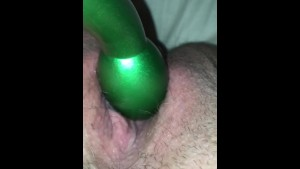 Vibrator on my tight wet pussy