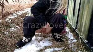 Euro Blond Pissing in Public - CrazyLoversxx