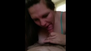 girlfriend giving Blowq job