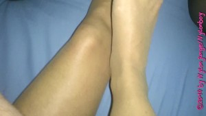 Known: nylon feet on cock