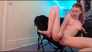 Amateur teen Squirting on a glass toy