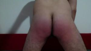 Italian Boy selfspank with leather belt in webcam
