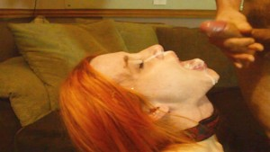 Teen takes HUGE FACIAL CUM SHOT & SWALLOWS