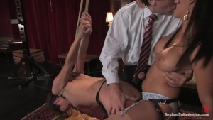 Slave Wife Entertains the Guest