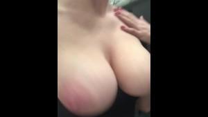 big DD natural boobs bouncing!