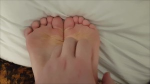 Cute Girls Feet Bound And Tickled By Daddy With Brush