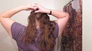 Removing Pig Tails with Long Curly Hair