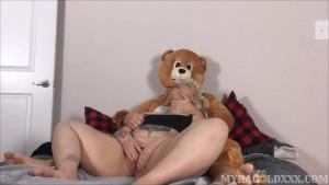 Chubby Tattooed Teen's Teddy Bear Fantasy