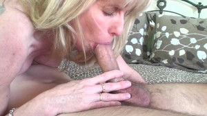 53 year old MILF Sucks and Fucks a 20 year old Young Fan