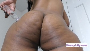 HornyLily Ass-clapping Oiling my big Ass