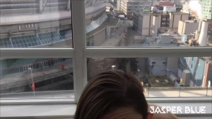 Jasper Blue: Blowjob on Public Balcony