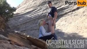 Young Couple Sneaks Off Public Trail for No Hands Blowjob-Ourdirtylilsecret