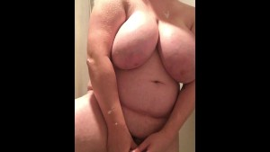 Fucking My Ass and Pussy in the Shower and Cumming Twice