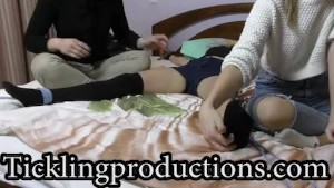 Tickling Vika part 3 - * Bouncing and feet *