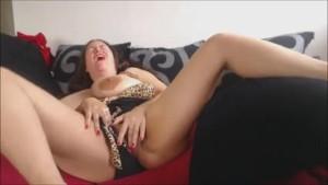 Masturbating close up