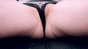 Tight Girl Fingered driving down the highway