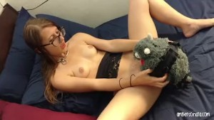 Girl Fucks Stuffed Animal Dragon Strapon